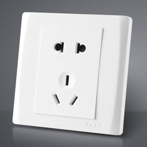 Pure White Type Wall Socket Panel Pins Outlet Electric Home Decoration Sockets
