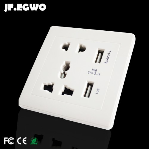 Smart USB Wall Socket for Restaurant Wall outlet Universal power adapter wall outlet