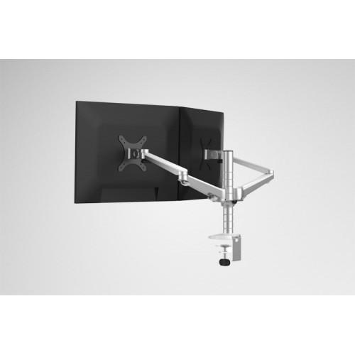 Aluminum Alloy Desktop Double Arm Dual Monitor Holder Full Motion LED Screen