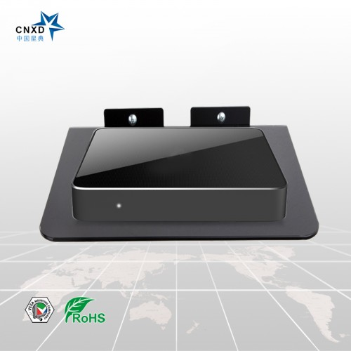 Designed stand Router shelf With black glass