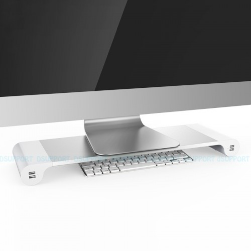 Dsupport Desktop Monitor Stand Space Bar Laptop Stand Riser ports USB charging
