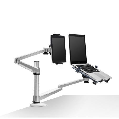 Full Motion Dual Arm Laptop Holder Tablet PC