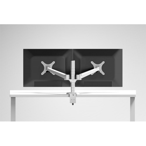aluminum Alloy Dual Monitor Holder Full Motion Monitor Mount Arm Stand Base