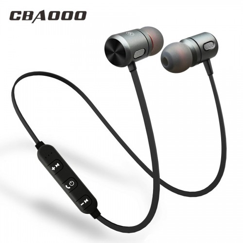 CBAOOO C10 Bluetooth Earphone Sport Running Headsets With Mic In Ear Wireless Earphones Bass Bluetooth Headset