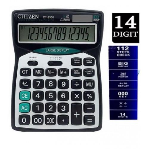 CT-9300 14 Digit Desktop Solar Dual Power Calculator