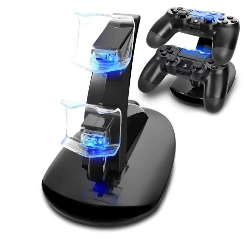 PS4 Controller Charger Dock LED Dual USB Charging Stand Cradle