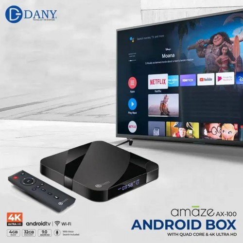 Dany Amaze AX-50 4K Android TV Box 4GB RAM & 32GB ROM