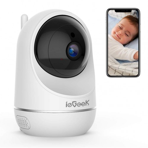 ieGeek WiFi IP Camera 1080P Wireless Indoor CCTV Camera Home Security Surveillance System With Baby Crying Detection