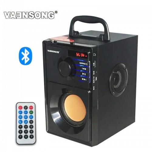2500mAh 2 1Stereo Wooden Subwoofer Bluetooth Speaker FM Radio Portable Speakers Mp3 Play Super Bass Loudspeaker