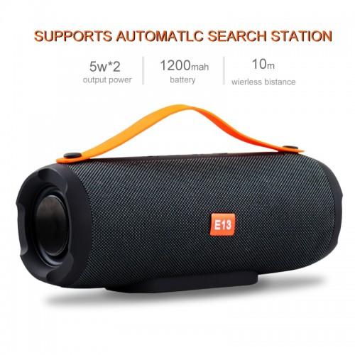E13 Mini Portable Wireless Bluetooth Speaker Stereo Speakerphone Radio Music Subwoofer Column Speakers for Computer