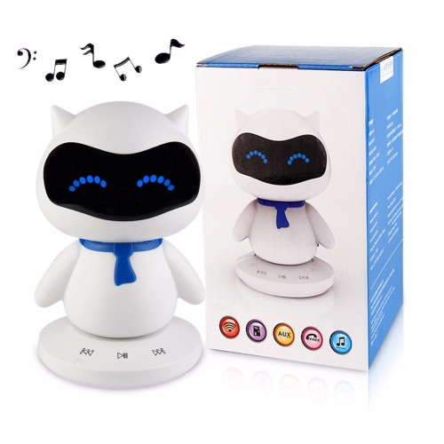 Only sell to Russia and USA Local Stock Mini Portable Cute Robot Smart Column Bluetooth Speaker