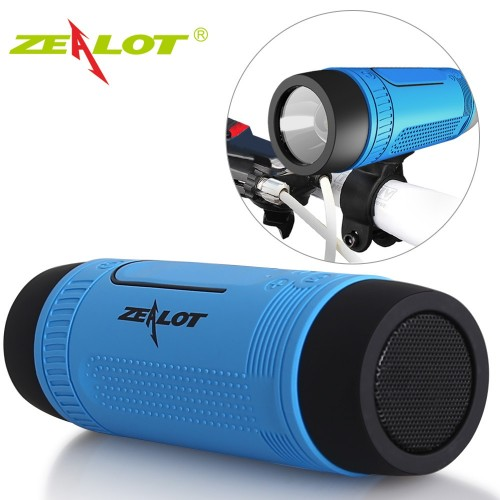 Zealot S1 Bluetooth Speaker Outdoor Bicycle Portable Subwoofer Bass Wireless Speakers Power Bank LED light Bike