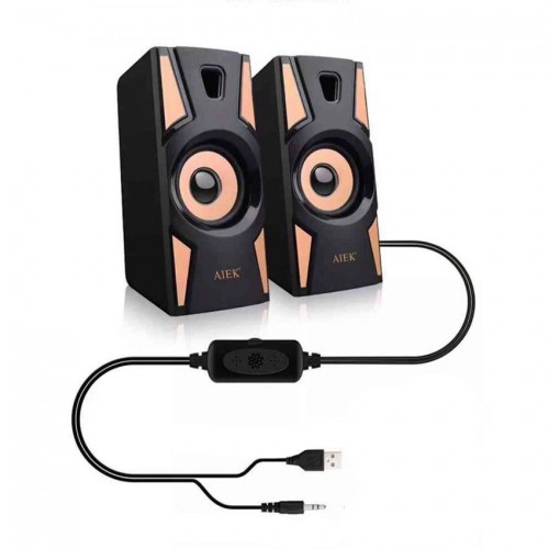 Multimedia Bass Speakers USB Prime HT 09A For Computers And Laptops Black