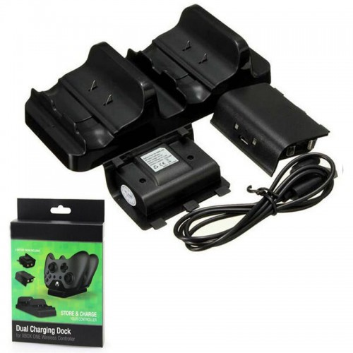 Dual Charging Dock Charger Rechargeable Battery Pack USB Charge Cable Power Cord for XBOX