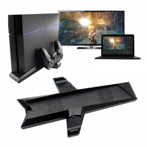 Dual Charger Vertical Cooling Station Stand With Dual Controller Charging