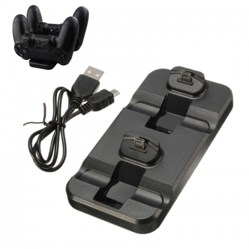 New Dual Port Charging Dock Station Cradle Wireless Controller Black Charger For Playstation