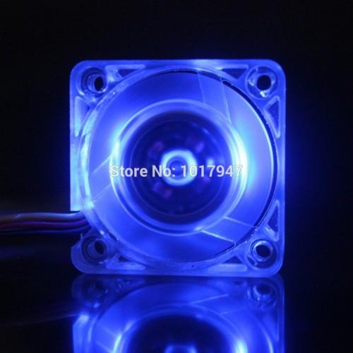 LOT Gdstime Blue LED DC  Wire Transparent Heatsink Brushless Cooler Cooling Fan