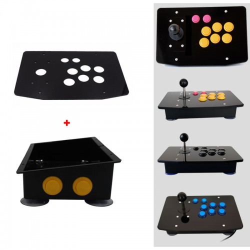 DIY Handle Arcade Set Kits Replacement Part Arcade joystick Acrylic Panel and Inclined Plane Cases w