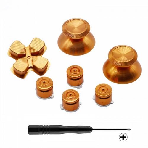 Golden Metal Bullet Buttons Thumbsticks Thumb Grip
