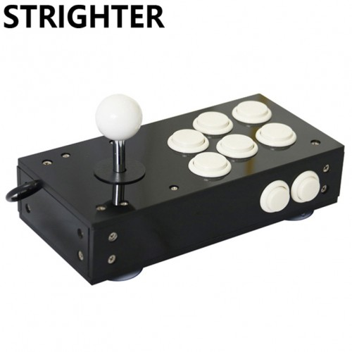Mini usb arcade joystick for pc game 8 buttons all black pc controller computer Game Hardware
