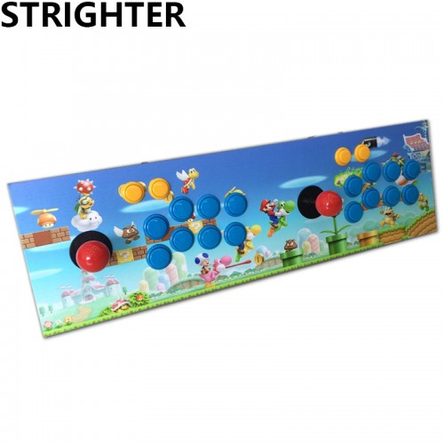 Super Mario arcade joystick pc computer game usb connector street fighters Joystick usb Stationary Double Consoles