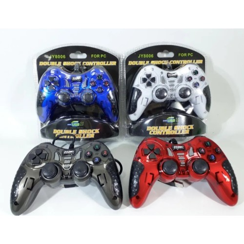 JY8006 Gaming Controller USB Joysticks Gamepad Double Shock For PC Laptop