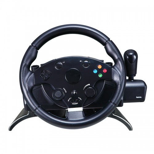 Computer simulated driving school car racing game Need Speed PC USB vibration of the steering wheel