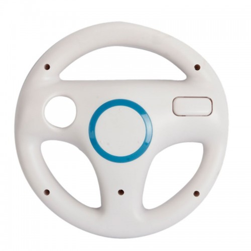 White Plastic Steering Wheel For Nintendo for Mario Kart Racing Games Remote Controller Console