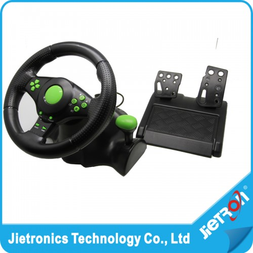 Wired USB Vibration Feedback racing wheel for ps3 Steering Wheel work for XBOX 360 PS2