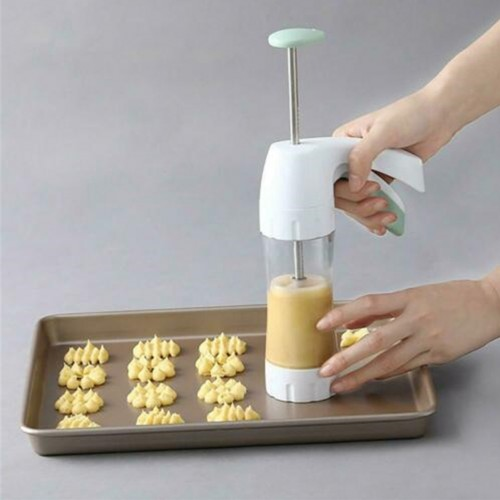 Baking pastry Tools Cookie Mold Press Gun 12 Flower Shape + 6 Pastry Tips Biscuit Cookie