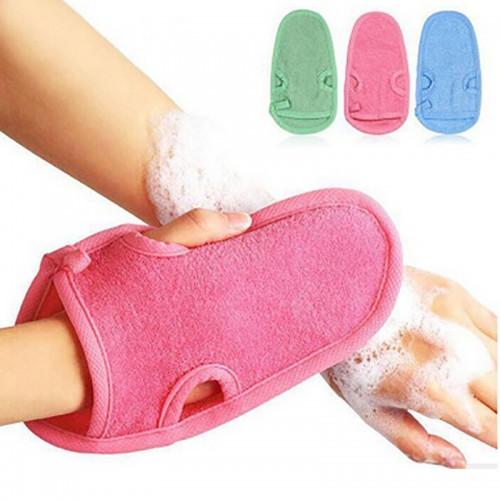1Pc Shower Gloves Exfoliating Wash Skin Spa Bath Gloves Foam Bath Tool Accessory Body Massage Cleaning
