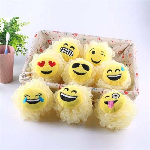 1pc Random Color Expression Bath Ball Bath Sponge Bath Flower Head Body Shower Cleaning Bath Flowers