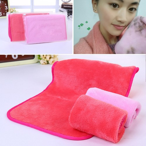 New 1pc Microfiber Cloth Pads Women Remover Towel Face Cleansing Makeup Tool no11