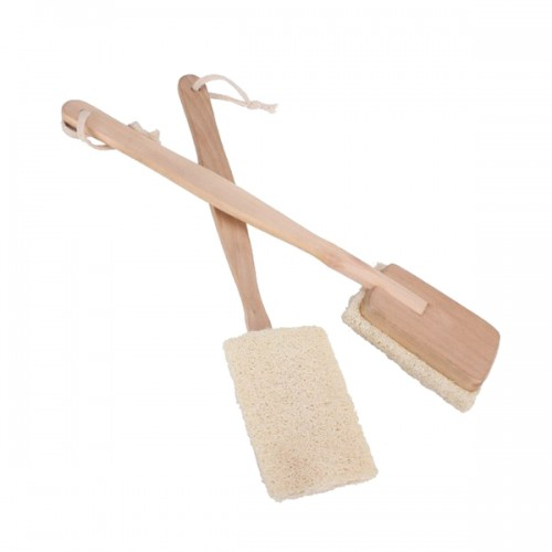 Natural Loofah Bath Body Shower Spa Back Brush with Long Handle
