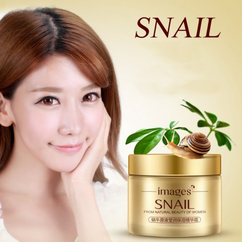 IMAGES Face Care Essence Nutrition Snail Cream Moisturizing Anti Aging Anti Wrinkle Day Snail Face Cream