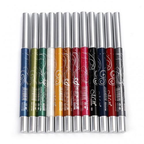 12 Colors Long lasting Eye Shadow Lip Liner Pen Makeup Beauty beauty hot fashion