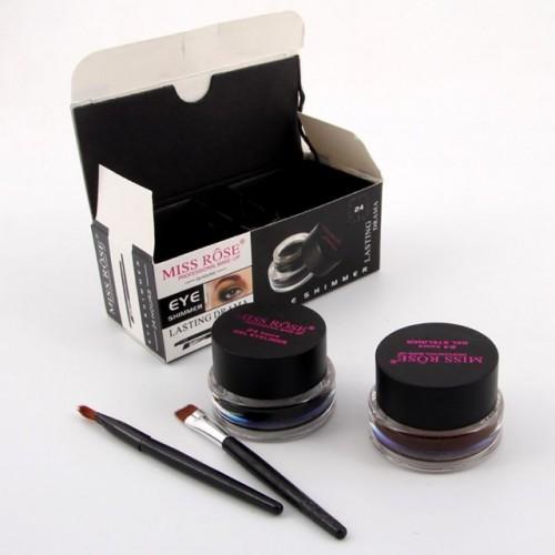 Eye Liner Cream Best Seller 2 in 1 Coffee Black Gel Eyeliner Make Up Waterproof Cosmetics.