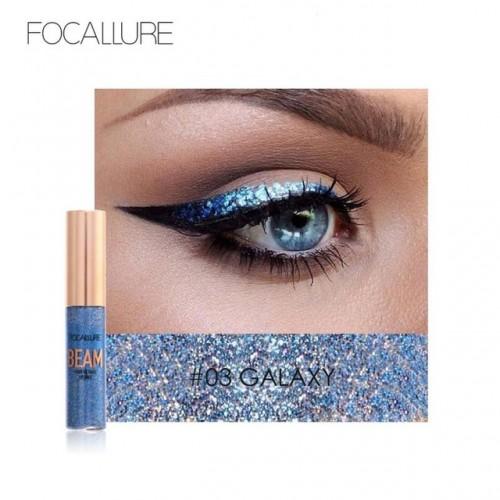 FOCALLURE Waterproof 5 Colors Glitter Eyeliner Diamond Eyeshadow For Easy to Wear Liquid Eyeliner Beauty.