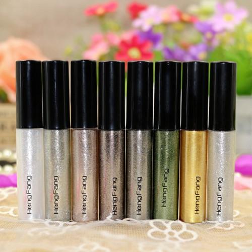Hengfang Glitter Liquid Eyeliner Professional Makeup Eye Liner 8 Colors Pen Shinning White Gold Green Eye.