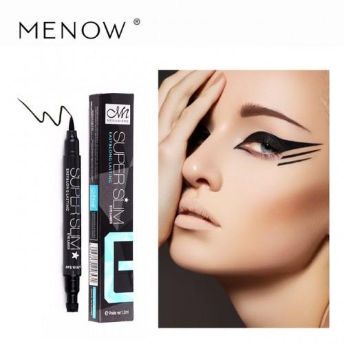 MENOW New Product Eye Master Precise Waterproof Black Liquid Eyeliner Pencil 24 Hours Long Lasting Eyes