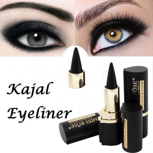 Makeup Waterproof Black Eyeliner Gel Professional Natural MISS ROSE Make Up Eyes Tattoo Eyeliner.