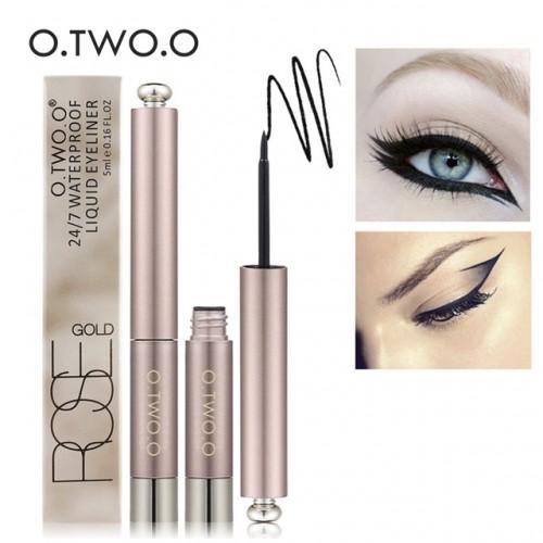O TWO O Brand Black Eye Makeup Liquid Eyeliner Easy To Wear Black Eyeliner Waterproof Lasting.