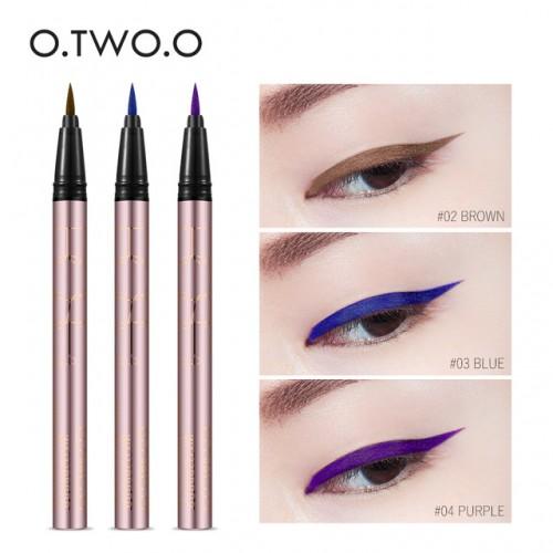 O TWO O Colorful Purple Liquid Eyeliner Eye Make Up Super Waterproof Long Lasting Eye Liner.