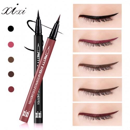 XIXI Brand Eye Liner Cosmetics Long Lasting Waterproof Pigment Natural Black Red BrownColor Pencil Eyeliner Makeup.
