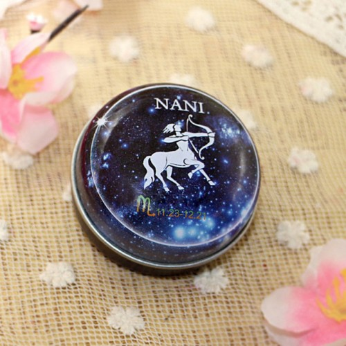 12 Zodiac Sign Compact Scented Body Balm Skin Care Cream Flower Perfume Essential.