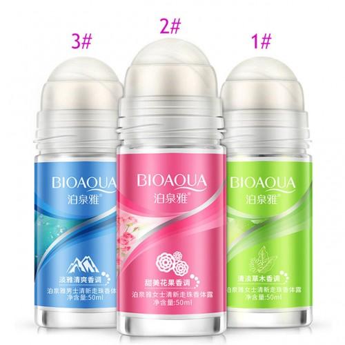 BIOAQUA Ball Body Lotion Antiperspirants Underarm Deodorant Roll on Bottle Women Fragrance Men Smooth Dry Perfumes.