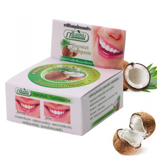 Hot selling 1pcs Thailand Coconut Toothpastes Herbal Clove Toothpaste Teeth Whitening Care
