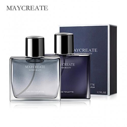 MayCreate 50ml Men Perfume Portable For Men Perfume Brand Fresh Lasting Fragrance Male Parfum Spray Glass.