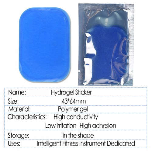 10Pcs Replacement Self adhesive Hydrogel Sticker Gel Patch Electrode Gel Pad For EMS Muscle Stimulator ABS