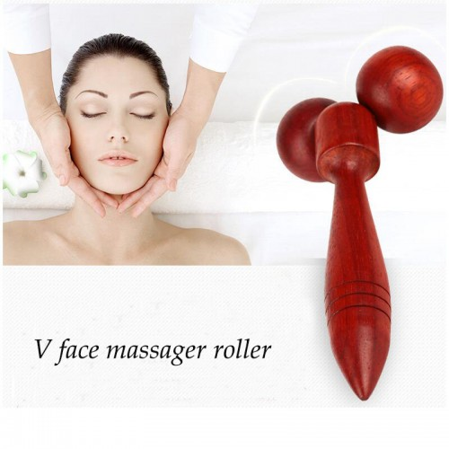 Thin Facial Roller 360 Rotation Y Shape Face Slim Massage Tools Lifting Wrinkle Remover Wooden Face